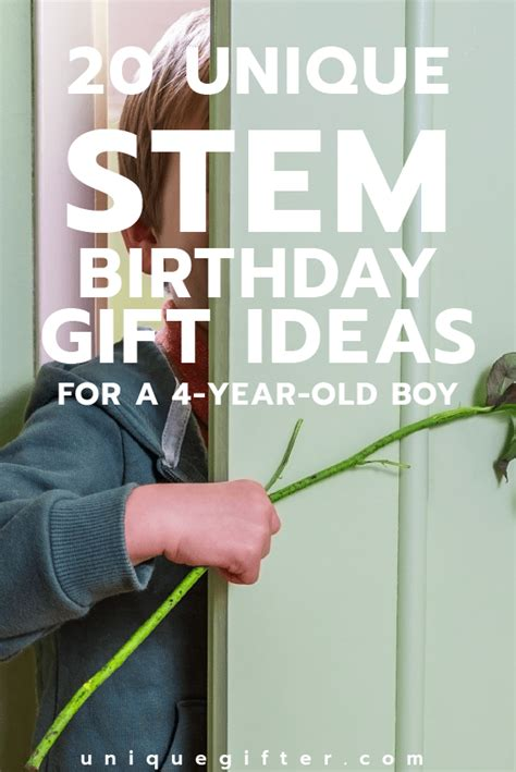 20 STEM Birthday Gift Ideas for a 4 Year Old Boy - Unique