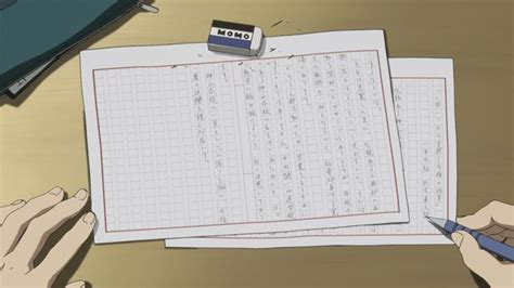 In episode 1 of Hyouka, what was the topic of the essay