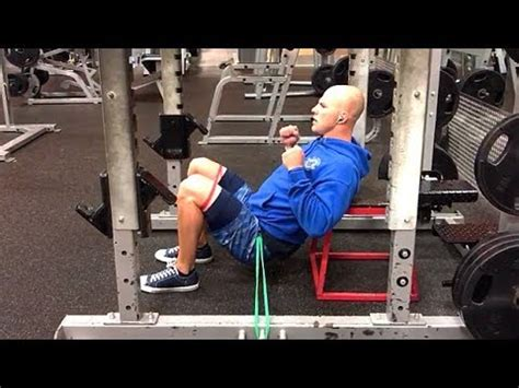 Double Banded Hip Thrust in Rack - YouTube