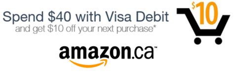 Amazon Canada Coupon Code: Spend $40 and Use Visa Debit to