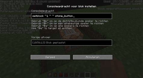 minecraft java edition - How to use setblock command for