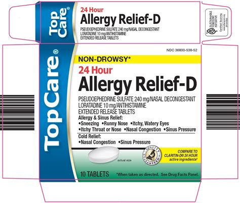 TopCare Allergy Relief D (tablet, extended release) Topco