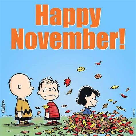 Happy November Peanuts Gang Pictures, Photos, and Images
