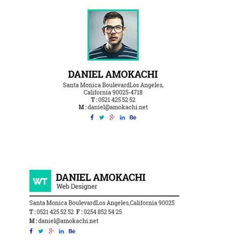 15+ Gmail Email Signature Designs & Templates - PSD, HTML