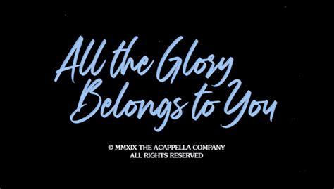 All the Glory Belongs to You [Official Music Video] RSG