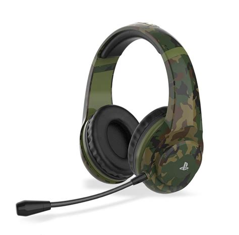 4Gamers PRO70 PS4 Stereo Gaming Headset - Woodland Camo
