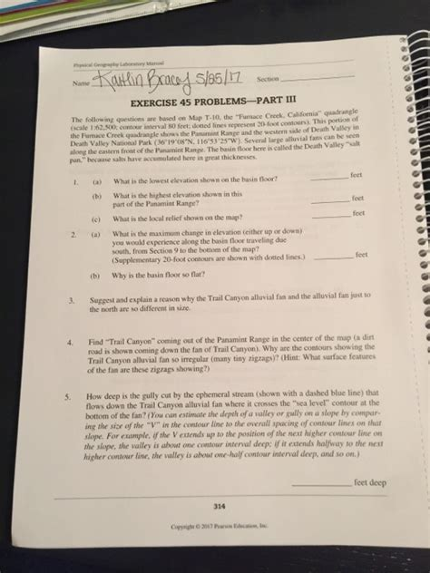 Solved: Geography Laboratory Manual EXERCISE 45 PROBLEMs-P