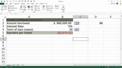 Learning Excel: Use Spin Button for Data Entry - YouTube