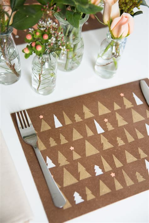 Wooden Stenciled Placemats • A Subtle Revelry