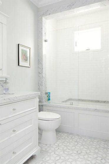 patterson custom homes small white bathroom with gray and