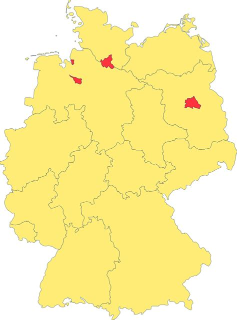 File:Map of Lands of Germany (Area States and City States