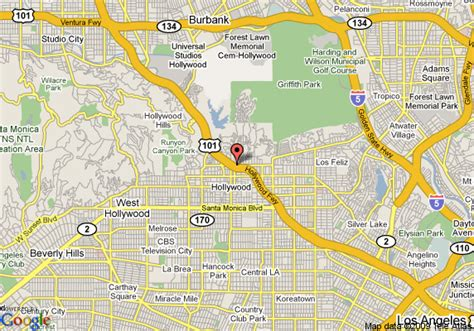 Map of Best Western Hollywood Hills Hotel, Los Angeles