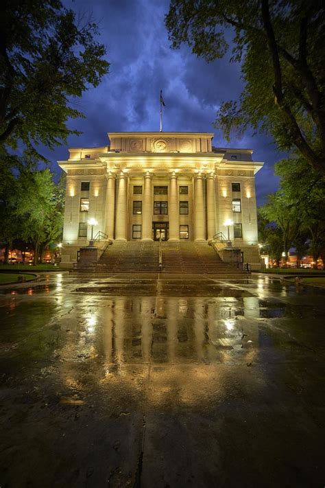 Yavapai County Courthouse after the rain