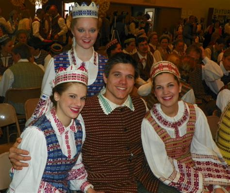 Traditional Lithuanian dance with traditional Lithuanian