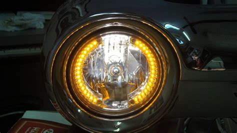 1948-78 Ford F-100 Headlight Bulb, With Aux Led Outer Ring