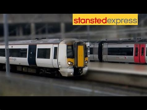 Trains at London Stansted Airport Station - YouTube