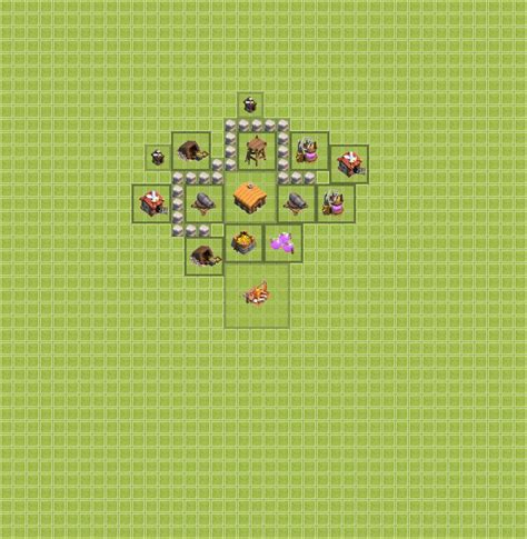 Town Hall Level 2 Base Designs - Clash of Clans - App Cheaters