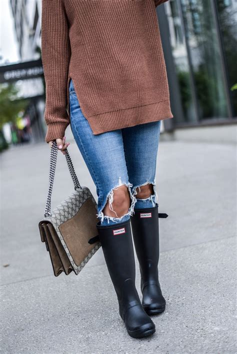 How to wear Hunter boots this fall | women's fashion