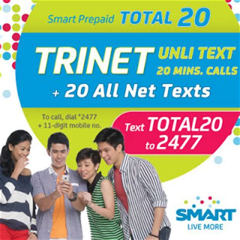 Smart TOTAL 20 TRINET Unli Text Plus 20 Minutes Call and