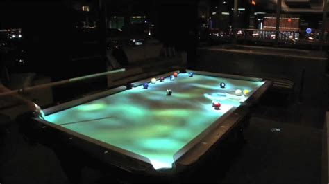 Cuelight Interactive Pool Table - YouTube