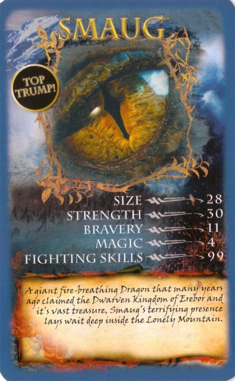 Top Trumps Cards | The Hobbit - The Desolation of Smaug