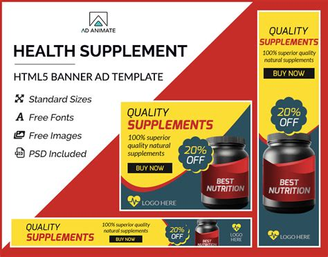 Health Supplement Banner   Gym ad banners   Shopping