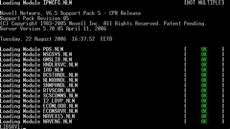 Novell NetWare file extensions