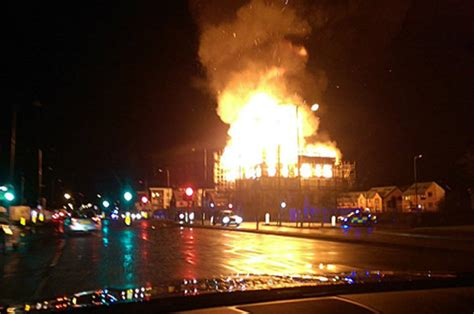 Gorton fire: Huge flames consume block of flats in Greater